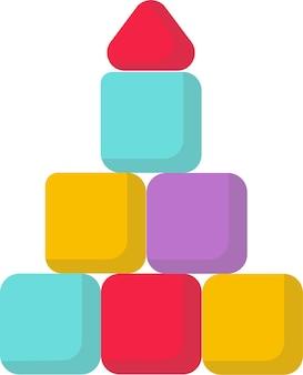 かわいい子供のおもちゃの立方体のピラミッド