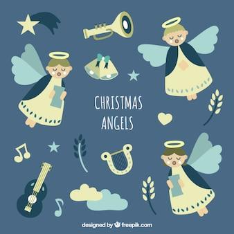Симпатичные рождественские ангелы