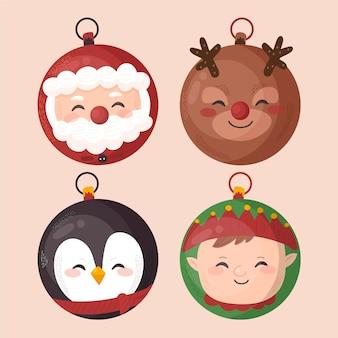 Cute christmas ball ornaments