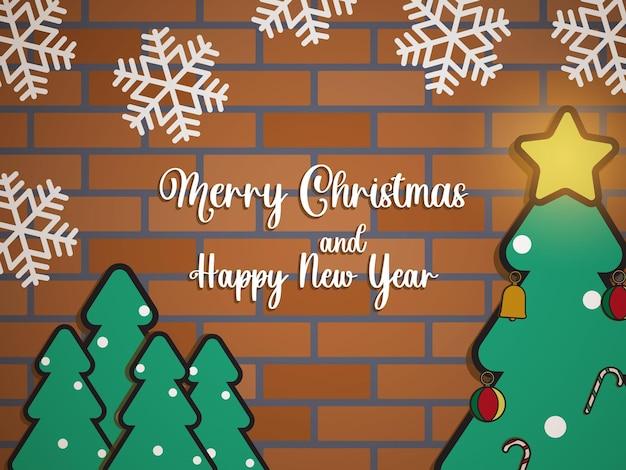 Cute christmas banner background flat design