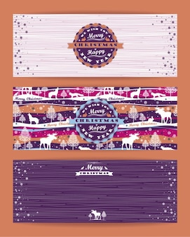 Cute christmas banners collection