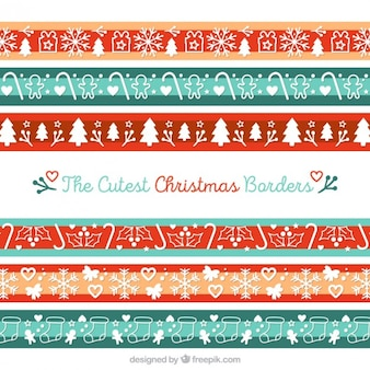 Cute christmas borders pack