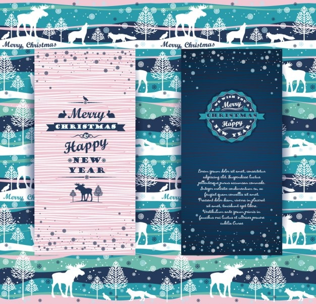 Cute christmas card template