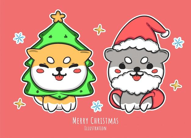 Симпатичные рождество символов иллюстрация
