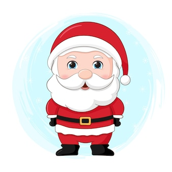 かわいいクリスマスキャラクター。サンタクロース
