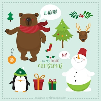 Cute christmas characters pack