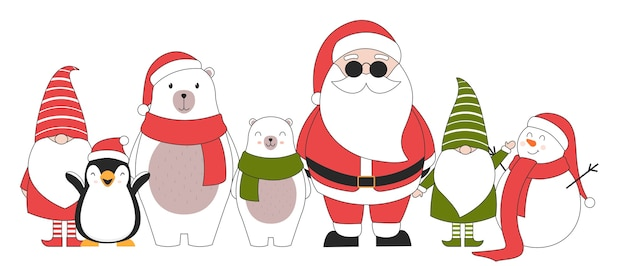 Cute christmas characters.