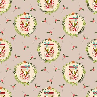 Cute christmas cookie jars seamless pattern.