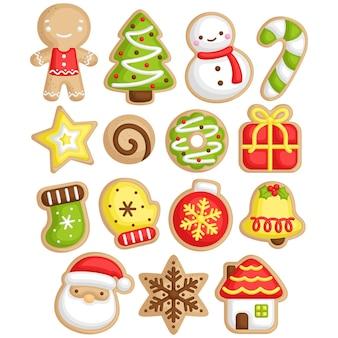 크리스마스 휴일 축하를 위한 귀여운 크리스마스 쿠키