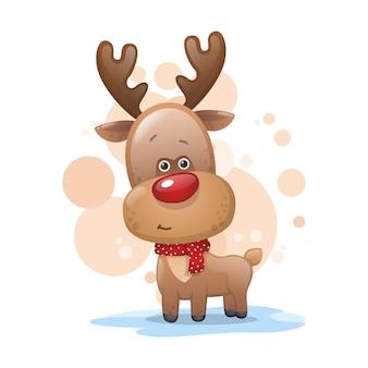 スカーフでかわいいクリスマス鹿