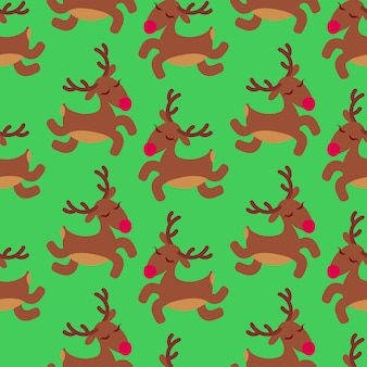 Cute christmas deers pattern.