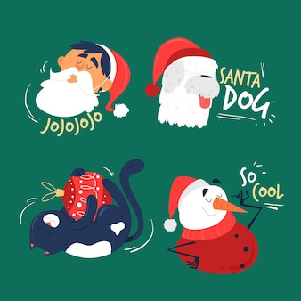 かわいいクリスマス要素コレクション
