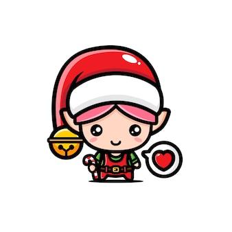 かわいいクリスマスエルフのキャラクターデザイン