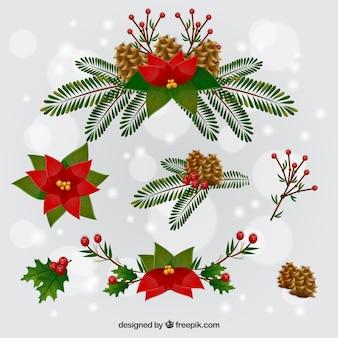 Симпатичные рождественские цветы
