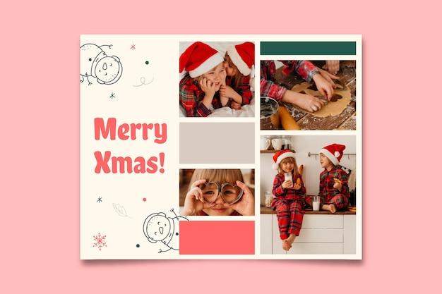 Симпатичный рождественский поздравительный фотоколлаж