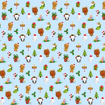 Cute christmas item background
