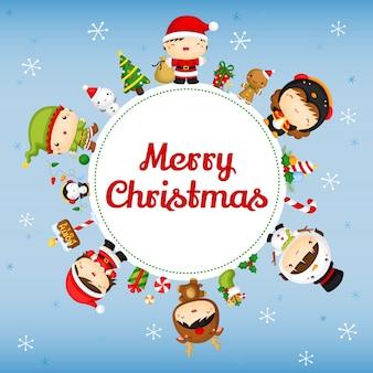 Cute christmas kids card