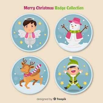귀여운 크리스마스 라벨 컬렉션