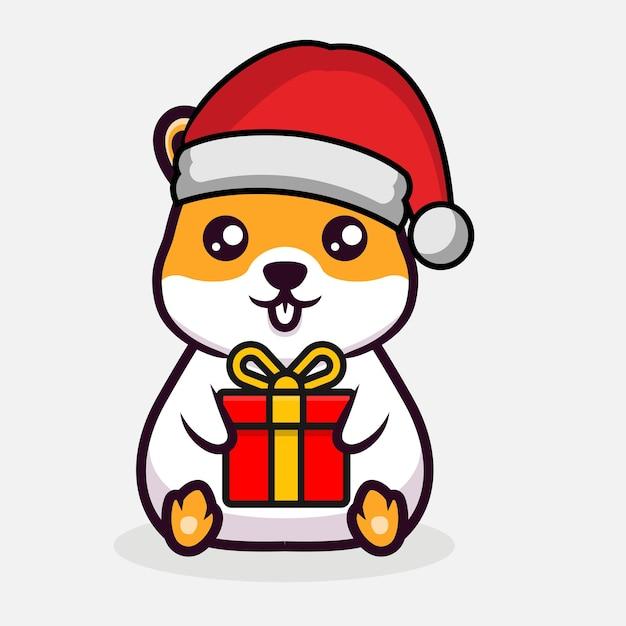 Симпатичная рождественская иллюстрация дизайна талисмана