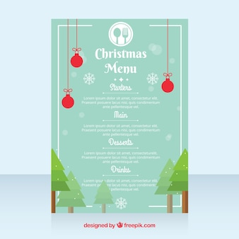 Cute christmas menu