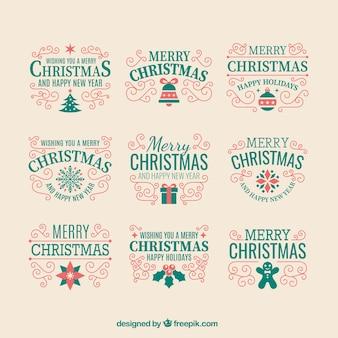 복고 스타일의 귀여운 크리스마스 장식품