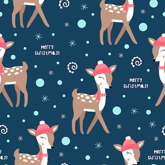 Cute christmas pattern with deers.