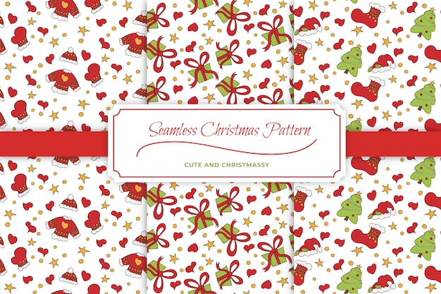 Cute christmas patterns: seamless