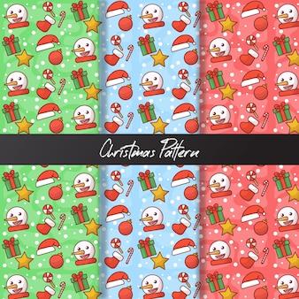 귀여운 크리스마스 원활한 패턴
