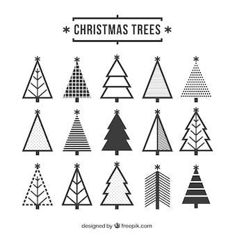 Симпатичные рождественские иконки деревьев