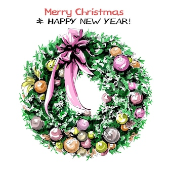 弓でかわいいクリスマス リース