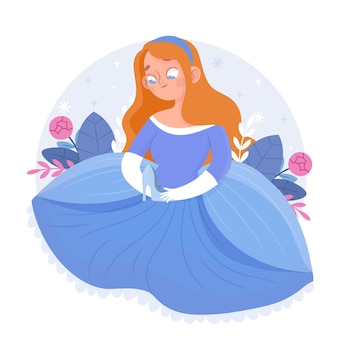 Cute cinderella illustration