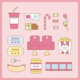 Cute cinema set
