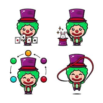 Милый цирк клоун тематическое цирковое шоу