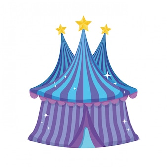 Cute circus tent icon