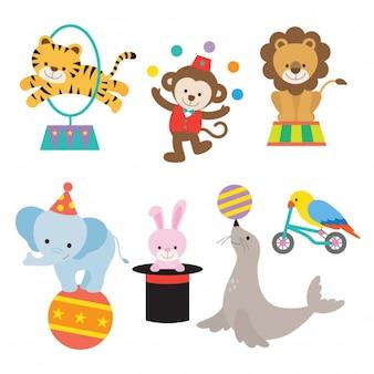 Cute circus vector