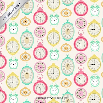 Cute clocks pattern