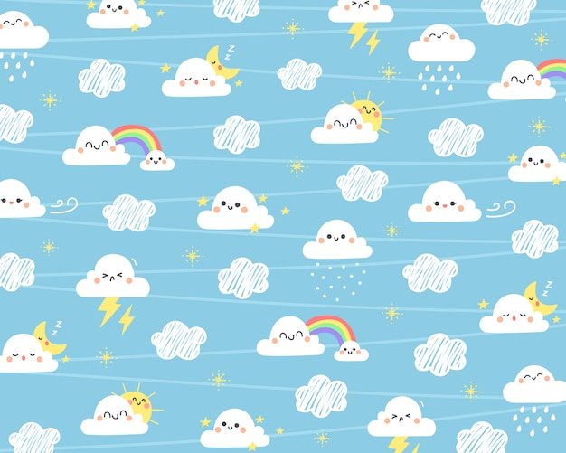 Cute cloud background.