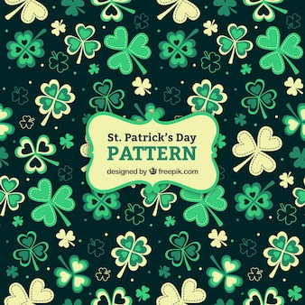 Cute clovers st. patrick's day pattern