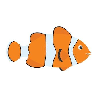 Симпатичная рыба-клоун мультяшная оранжевая экзотическая морская рыба