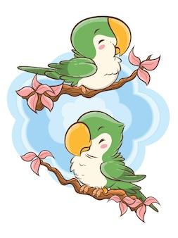 Милый какаду мультипликационный персонаж
