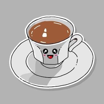 かわいいコーヒーの漫画のデザイン