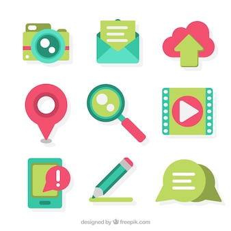 Cute collection of elements for blogs