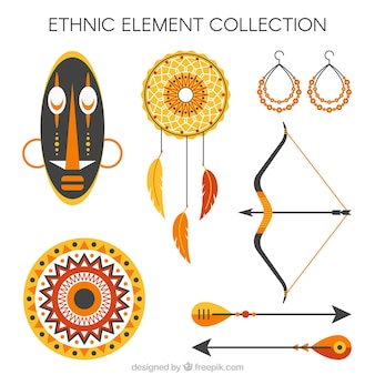 Cute collection of ethnic objects