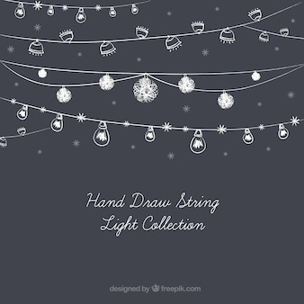 Cute collection of hand-drawn string lights