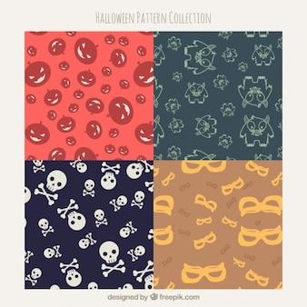 패턴 할로윈의 귀여운 컬렉션