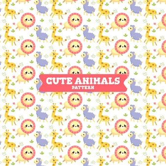 かわいいcollorful animalsのパターン
