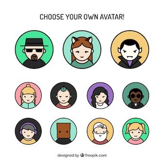 Симпатичные цветные аватары