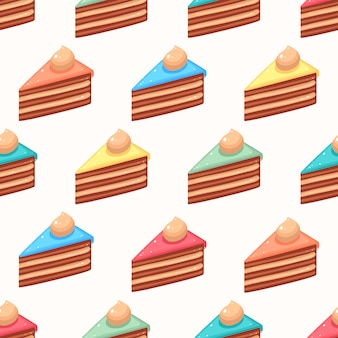 Cute colored slices of cake