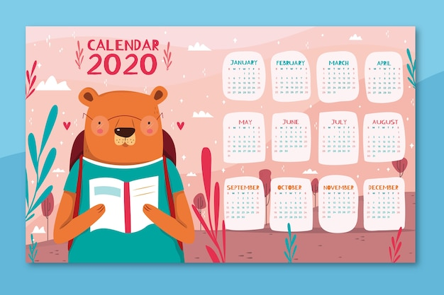 Cute colorful calendar