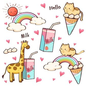 Cute colorful character cartoon